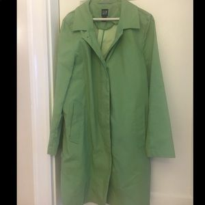 Green Gap Trench Coat